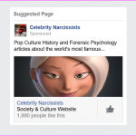 Suggested Fanpage: Celebrity Narcissists on Facebook